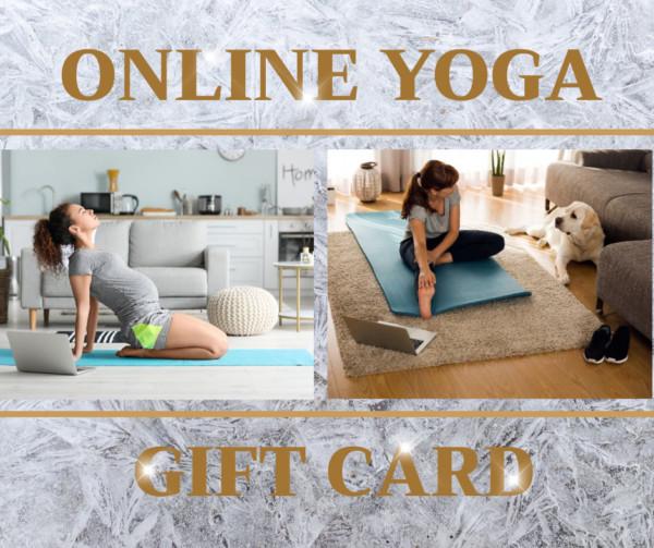 Online yoga gift card