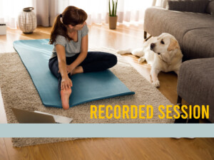 Yoga for mothers recorded session
